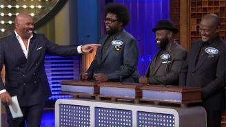 Steve Harvey Returns To Late Night To Fool With The Roots On 'Tonight Show Family Feud'
