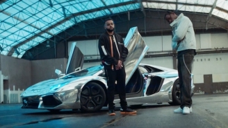 Travi$ Scott Pulls Up In A Lambo For The 'Biebs In The Trap' Video, Just Like He Said He Would