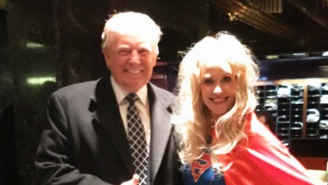 Donald Trump And Kellyanne Conway Attended A 'Heroes And Villains' Ball In Perfect Costumes