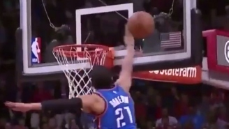 Andre Roberson Wagged His Finger At Patrick Beverley After This Massive Chase-Down Block
