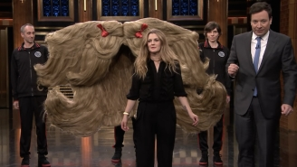 Drew Barrymore Competes For The Guinness World Records She So Richly Deserves On 'Fallon'