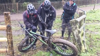 Hilarity Ensues When Three British Dudes Try To Pry A Bicycle Off An Electric Fence