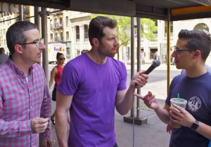 Billy Eichner Asks His Most Important Question Yet: Do Gay People Care About John Oliver?