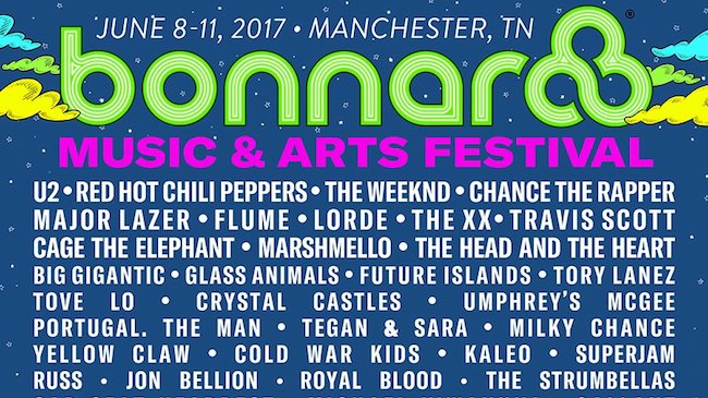 Bonnaroo 2017's Lineup Led By The Weeknd, Chance The Rapper, U2 And Red Hot Chili Peppers