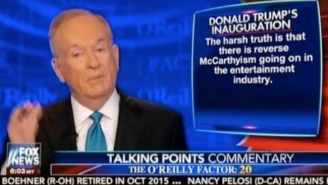 Bill O'Reilly: Celebs Who Refuse To Appear At Trump's Inauguration Are Guilty Of 'Reverse McCarthyism'