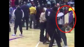 A Massive College Basketball Brawl Broke Out, And Someone Used A Chair As A Weapon