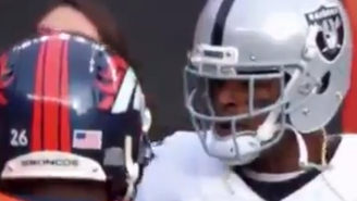 Aqib Talib Ripped Michael Crabtree's Chain Off His Neck Then Laughed About It On The Sideline