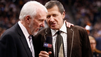 Gregg Popovich Gave The Colorful Tie He Wore To Craig Sager's Funeral To Craig Sager Jr.