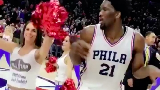 Joel Embiid Celebrated Beating The Knicks By Dancing With The 76ers Cheerleaders