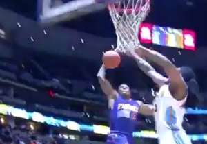 Kenneth Faried Didn't Stand A Chance Against This Explosive Eric Bledsoe Dunk