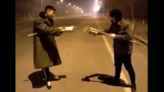 These Two Guys Had A Crazy Fireworks Fight And Somehow Survived