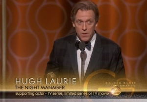Hugh Laurie Roasted Donald Trump In His Golden Globes Acceptance Speech