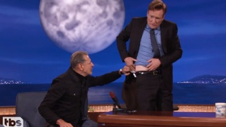 Jeff Goldblum Attempts To Teach Conan The Secrets Of Aging Gracefully And Things Get Predictably Weird