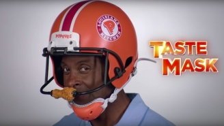 Jerry Rice Wearing A Popeyes Chicken Helmet In A New Commercial Obviously Isn't Going Over Well