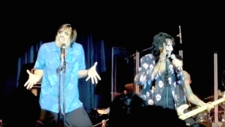 Jim Carrey Joining Alice Cooper Onstage With Full Face Makeup Doesn't Need To Make Sense