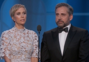 Kristin Wiig And Steve Carell Gave A Hilariously Heartbreaking Intro To The Globes' Best Animated Film