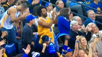 People Were Not Pleased With This Lakers Fan Cheering For The Warriors