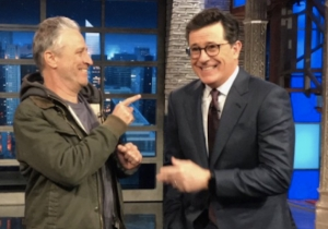 Stephen Colbert Breaks The Emergency Glass On Jon Stewart, Teases His Appearance For Tonight