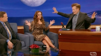 Leah Remini's Appearance On 'Conan' Ruffled Some Feathers At The Church Of Scientology