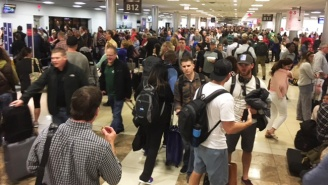 Take A Look At This Insane Line To Rebook Canceled Flights At The Atlanta Airport After Deadly Storms