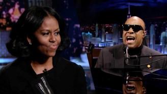 Stevie Wonder Serenading Michelle Obama Is The Sendoff She Deserves