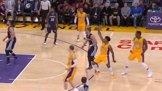 Nick Young Broke Out The Perfect Swaggy P Celebration With His Three-Point Air Hump