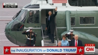 The Obamas Waved Farewell And Departed In A Chopper After The Inauguration