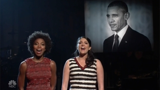 'SNL' Pays Musical Tribute To President Obama With 'To Sir, With Love'