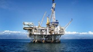 The U.S. Coast Guard Is Fighting A Fire On An Oil Platform Off The Louisiana Coast