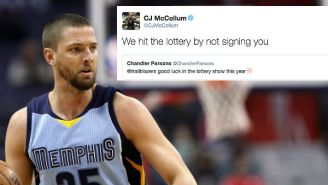 C.J. McCollum Clapped Back After Chandler Parsons Burned The Trail Blazers On Twitter