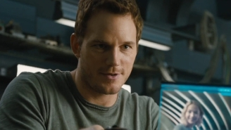 Watch Chris Pratt Transform Into A Space Lumberjack