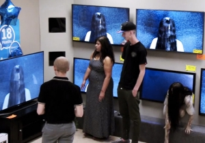 How Messed Up Is This TV Store Prank Paramount Staged To Promote 'Rings'?