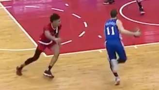 Nik Stauskas Made Kelly Oubre Look Silly With This Ridiculous Crossover