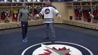 Brock Lesnar Went To An NHL Game And Wasted No Time Breaking A Sacred Locker Room Rule