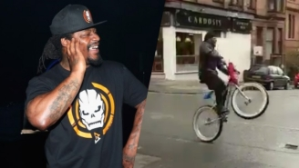 Marshawn Lynch Is Spending Retirement Playing Chicken On A Bike With Scottish Buses