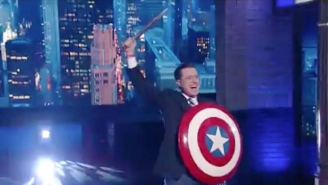 Stephen Colbert Brings Back His Alter Ego To Say Goodbye To President Obama