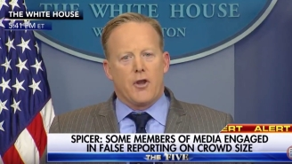 Watch Trump Spokesman Sean Spicer Engage In Some Blatant, Huffy Gaslighting Over The Inauguration Crowd Size