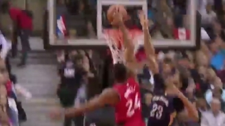 Anthony Davis Couldn't Stop Norman Powell From Throwing Down A One-Handed Jam
