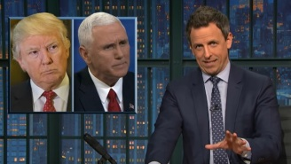 Seth Meyers Wonders If Mike Pence Threw Shade At Trump For Tweeting About John Lewis Late At Night