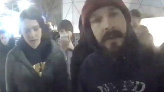 Shia LaBeouf Was Arrested At His Anti-Donald Trump Protest
