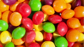 This Is What It Looks Like When The Road Runs Red With A Million Skittles