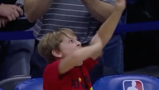 No One Had A Better Celebration For The Hawks Going To Overtime Than The Coach's Son