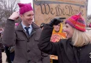 'The Daily Show' Gauges The Resistance On The Street At The Inauguration And Women's March