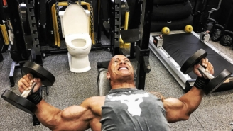 The Rock's 2017 Fitness Regimen Includes A Toilet Nestled Among His Weights, Possibly Sparks New Trend