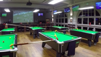 The Craziest Golf Trick Shot Of All Time Involves Nine Pool Tables, A Bar And A Flight Of Stairs