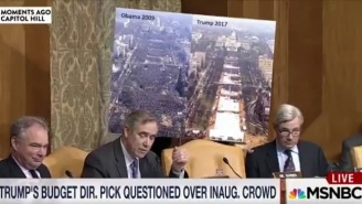 Trump's Budget Director Pick Was Asked To Compare Inauguration Crowds During His Confirmation Hearing