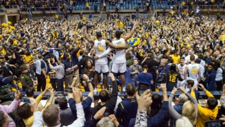 West Virginia Fans Held An Incredible On-Court Celebration After Blowing Out No. 1 Baylor