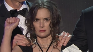 Winona Ryder Experienced Every Emotion During David Harbour's Fiery 'Stranger Things' SAG Awards Speech