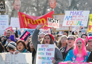 Hundreds Of Thousands Take To The Streets For Women's Marches Against Trump Around The Globe