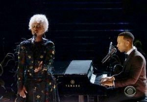 John Legend's 2017 Grammy Performance Was A Farewell To All The Musical Icons We Lost Last Year